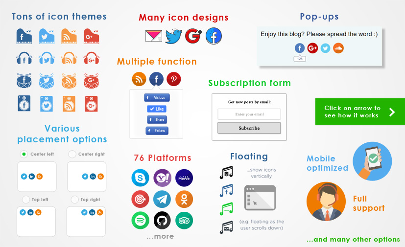 Ultimate Social Media | WordPress Social Media Plugin: Icons